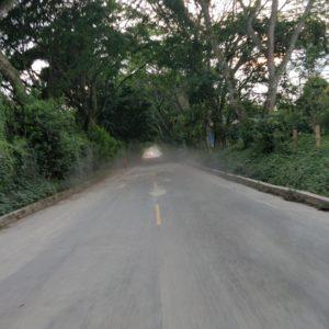 Pedazo de carretera de mi viaje habitual